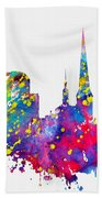 Dortmund Skyline-colorful Beach Towel