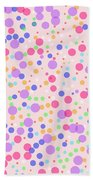 Dots On Pink Background Beach Towel