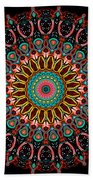 Dotted Wishes No. 4 Mandala Beach Towel