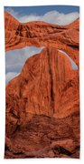 Double Arches At Arches National Park Beach Towel