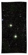 Double Cluster, Ngc 869 And Ngc 884 Beach Towel