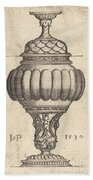 Double Goblet With Oval Decorations Beach Towel