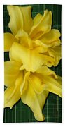 Double Jackpot Daylilies Beach Towel