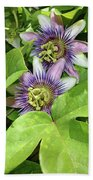 Double Passion Flowers Beach Towel