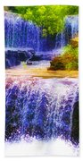 Double Waterfall Beach Towel by Bill Cannon