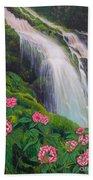 Double Hawaii Waterfall Beach Towel