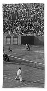 Doubles Tennis At Forest Hills Beach Towel
