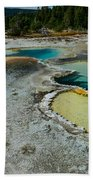 Doublet Pool Hot Spring In Yellowstone Beach Towel