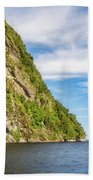 Doubtful Sound Opening To Tasman Sea Beach Towel