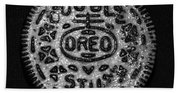 Doulble Stuff Oreo In Black And White Beach Towel