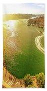Douro River At Sunset Beach Towel