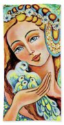 Dove Forest Fairy Beach Towel