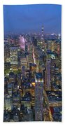 Down In The City  Beach Towel