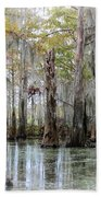 Down On The Bayou - Digital Painting Beach Towel by Carol Groenen