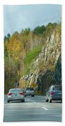Down The Road On Route 89 Beach Towel