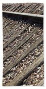 Down The Tracks Beach Towel