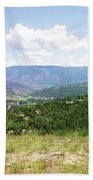 Down The Valley At Snowmass #2 Beach Towel