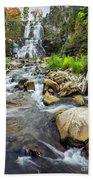 Downstream From Chittenango Falls Beach Towel