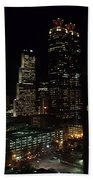 Downtown Atlanta Lights Beach Towel