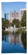 Downtown Charlotte North Carolina From Marshall Park Beach Towel