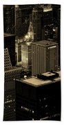 Downtown Chicago At Sunset Beach Towel