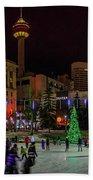Downtown Christmas Beach Towel