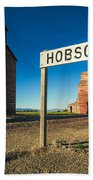 Downtown Hobson, Montana Beach Towel