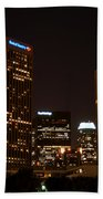 Downtown L.a. In Hdr Beach Towel