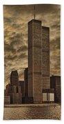 Downtown Manhattan Circa Nineteen Seventy Nine  Beach Towel by Chris Lord