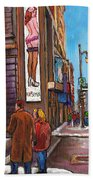 Downtown Montreal Streetscene At La Senza Beach Towel
