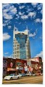 Downtown Nashville Blue Sky Beach Towel