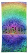Downtown Rainbow In The Wake Beach Towel