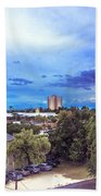 Downtown Skies Beach Towel