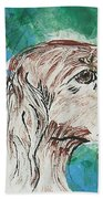 Doxie Blues Beach Towel