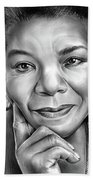 Dr Maya Angelou Beach Towel
