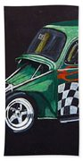 Drag Racing Vw Beach Towel