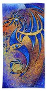 Dragissous V1 - Blue Dragon Beach Towel