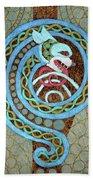 Dragon And The Circles Beach Towel