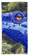 Dragon Eyes Beach Towel