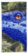 Dragon Eyes Beach Towel