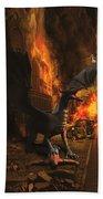 Dragon Flame Beach Sheet by Solomon Barroa