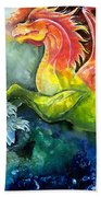 Dragon Horse Beach Towel