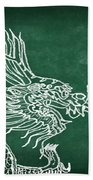 Dragon On Chalkboard Beach Towel by Setsiri Silapasuwanchai