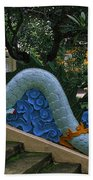 Bao Tang Temple Railing In Ho Chi Minh City Beach Towel