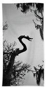 Dragon Shaped Tree Beach Towel