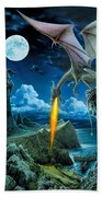 Dragon Spit Beach Towel by The Dragon Chronicles - Robin Ko