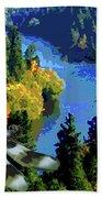 Dragonflight Over The Spokane River Beach Towel