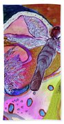 Dragonfly And Mum Beach Towel