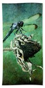 Dragonfly Art Beach Towel