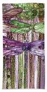 Dragonfly Bloomies 3 - Pink Beach Towel